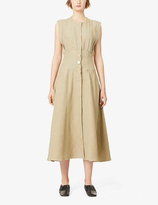 Le Kasha Dishna linen midi dress