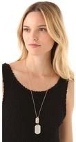 Juliet & Company Diamante Dog Tag Necklace