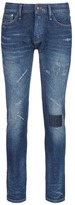 Denham 'Razor' patchwork distressed slim fit jeans