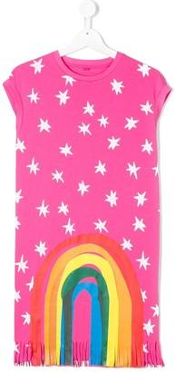 Stella McCartney Star Print Rainbow Detail Dress