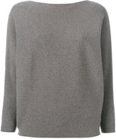 N.Peal cashmere ribbed detail top