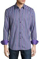 Robert Graham Queens Boulevard Long-Sleeve Sport Shirt, Blue