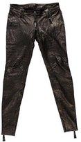 Thomas Wylde Leather Embossed Pants