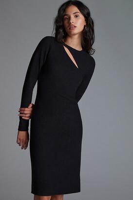 Bordeaux Slim Cut-Out Mini Dress By in Black Size L