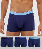 Tommy Hilfiger 3 pack trunks with contrast waistband in navy