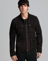 John Varvatos USA Leather Cargo Pocket Jacket