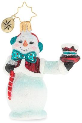 Christopher Radko Hats Off Snowman Gem Ornament