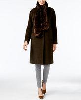Jones New York Walker Coat with Faux-Fur Scarf