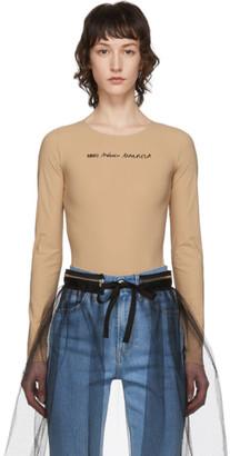 MM6 MAISON MARGIELA Beige Logo Bodysuit
