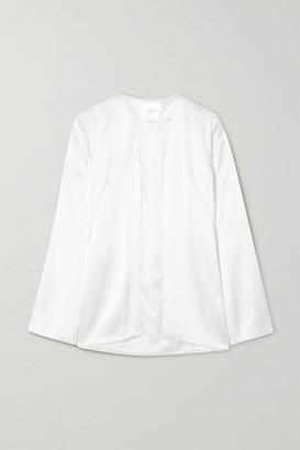 Galvan Blenheim Satin Jacket - White