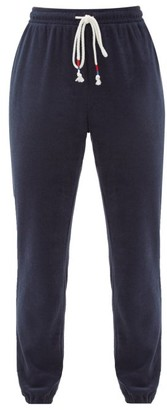 The Upside Florencia Cotton-blend Terry Track Pants - Navy