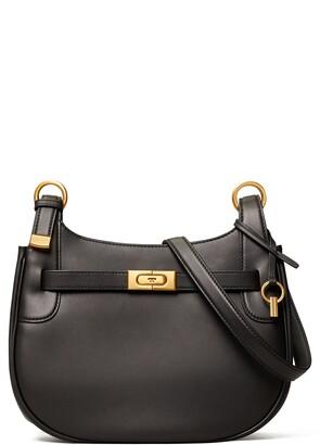 Tory Burch Lee Radziwill Leather Saddle Bag