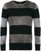 Avant Toi striped crew neck sweater
