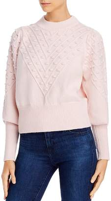 French Connection Bobble Knits Cropped Popcorn Sweater