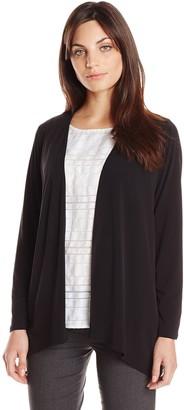 Amy Byer Women's Petite Knit Jersey Open Front Soft Fashion Cardigan