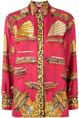 Hermes Pre-Owned Boat Print Shirt