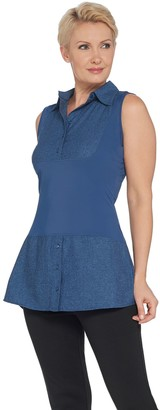 Kathleen Kirkwood Dictrac-Ease Chambray Shirttail Top