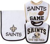 Baby New Orleans Saints 3-Piece Bib & Burp Cloth Set