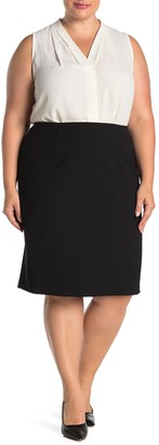 Lafayette 148 New York Vented Wool Blend Pencil Skirt (Plus Size)