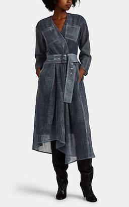 Woolmark Colovos X Prize Women's Dyed Merino Wool-Blend Gauze Wrap Dress - Blue