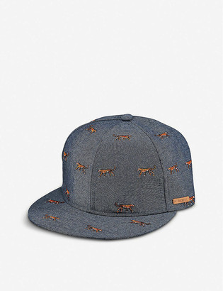 Barts Al Pauk tiger-embroidered cotton-blend baseball cap 2-8 years