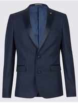 Limited Edition Navy Textured Modern Slim Fit Jacket