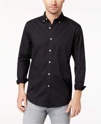 Club Room Long-Sleeve Dot-Print Stretch Shirt