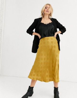 Capulet lara spot jaquard slip skirt
