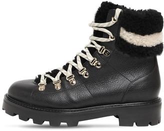 Jimmy Choo 30mm Eshe Leather Hiking Boots