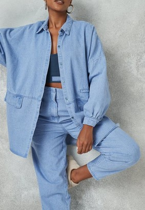 Missguided Co Ord Pocket Detail Extreme Oversized Shirt