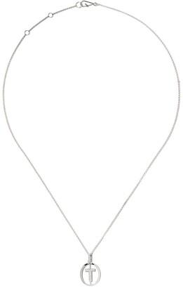 Annoushka 18kt white gold diamond initial T necklace