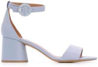 Emporio Armani Buckled Chunky-Heel Sandals