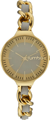 RumbaTime Pewter Orchard Chain Watch