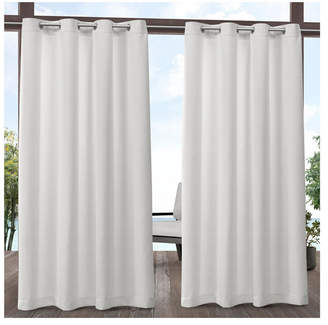Exclusive Home Aztec Indoor/Outdoor Grommet Top Curtain Panel Pair, 54 x 120""