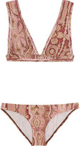 Zimmermann Realm Paisley-Print Triangle Bikini