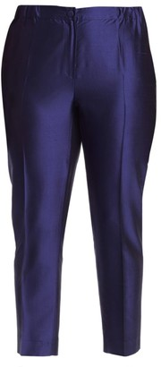 Marina Rinaldi, Plus Size China Blue Silk Pants