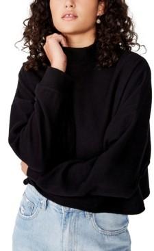 Cotton On Women's Brina Brushed Rib Mock Neck Sweatshirt