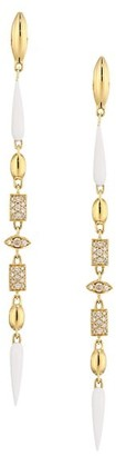 Etho Maria Noble 18K Yellow Gold, Brown Diamond & Ceramic Drop Earrings