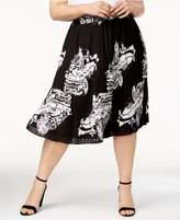 Melissa McCarthy Trendy Plus Size Pleated Skirt