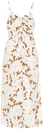 Vince Floral crApe midi dress