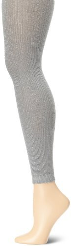 Jessica Simpson Women's Ribbed Lurex Footless Sweater Tight Socks
