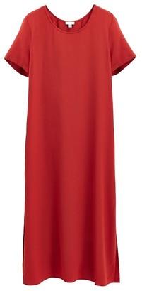 Cuyana Silk Pleat-Back Tee Dress