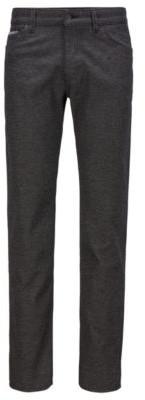 HUGO BOSS Regular-fit jeans in structured stretch denim