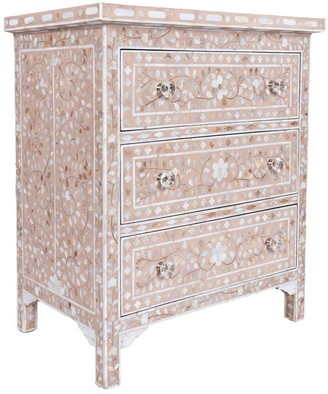 Mother of Pearl Camilla Inlay Small Chest Floral Blush