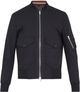 Paul Smith Patch-pocket wool-blend bomber jacket
