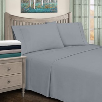Impressions Ceil Hypoallergenic Rayon from Bamboo Blend Solid Deep Pocket Sheet Set