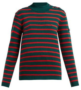 Calvin Klein Striped Wool Sweater - Womens - Green Multi