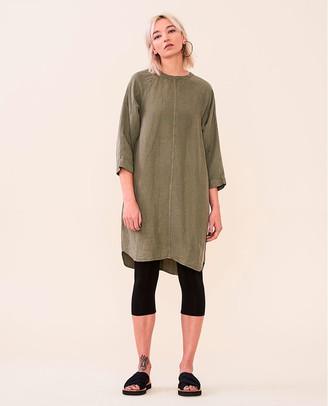 Elvine Lynxie Dress Dark Sage - Size S