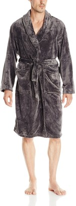 HotelSpa Hotel Spa Men's Velvet Plush Robe