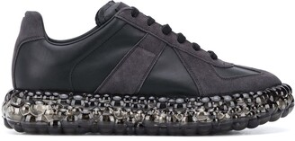 Maison Margiela Embellished Sole Panelled Sneakers